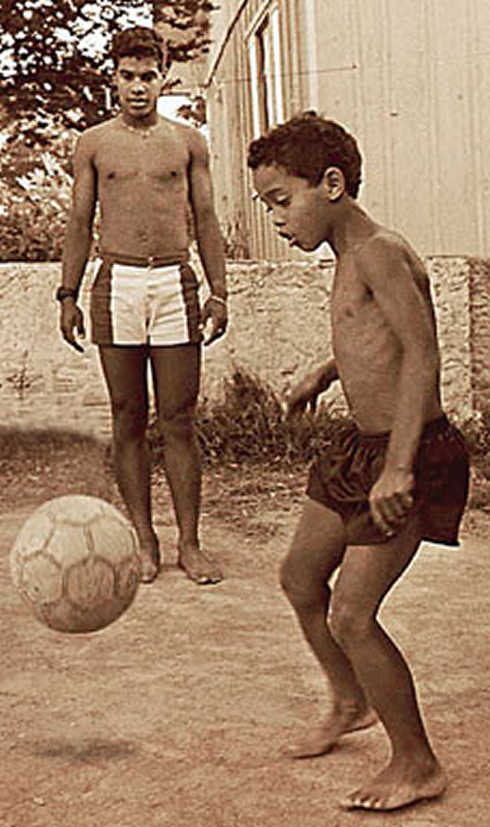ronaldo when he was a kid playing football