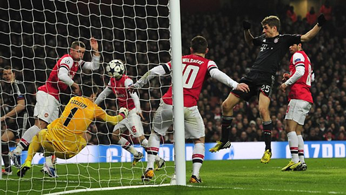 Arsenal 1-3 Bayern Munich, in Wembley, for the Champions League 2012-2013