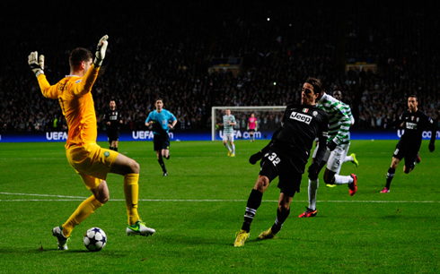 Matri scoring for Juventus against Celtic Glasgow, in the UEFA Champions League 2013
