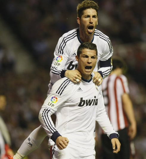 Athletic Bilbao 0-3 Real Madrid. The last Ronaldo lesson ... |Sergio Ramos And Cristiano Ronaldo