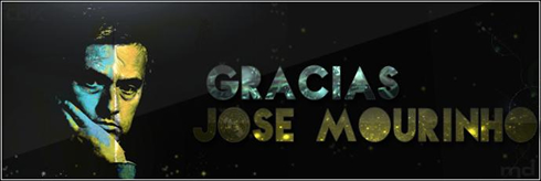 José Mourinho - Thank you and Gracias banner