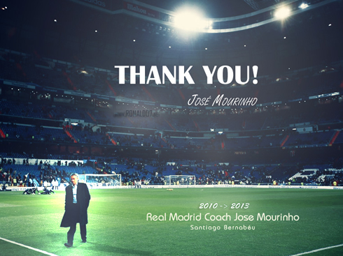 José Mourinho thank you wallpaper, after leaving Real Madrid in May 2013