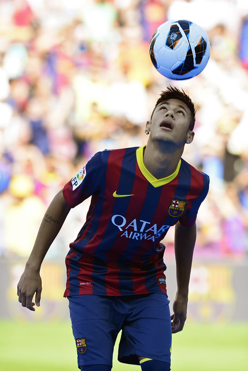 Neymar cristiano ronaldo is a great player but messi is still neymar showboat when he was presented as a barcelona player in june 2013 voltagebd Gallery