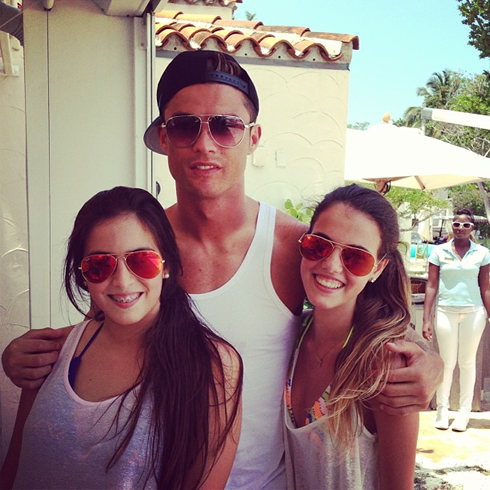 cristiano ronaldo on vacations in miami and new york