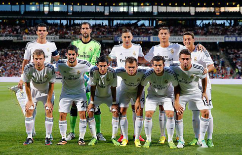 Real Madrid line-up against Lyon, in the 2013-2014 pre-season