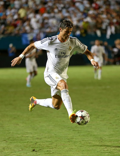 Cristiano Ronaldo controlling the ball in the air