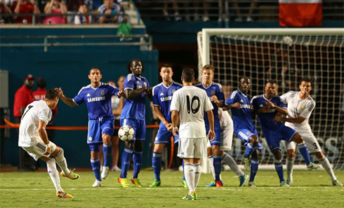 Cristiano Ronaldo free-kick goal, Real Madrid vs Chelsea in 2013