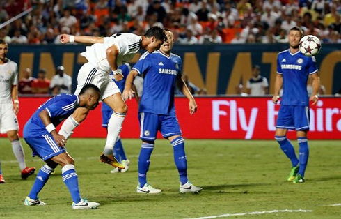 Cristiano Ronaldo header goal in Real Madrid vs Chelsea, in 2013