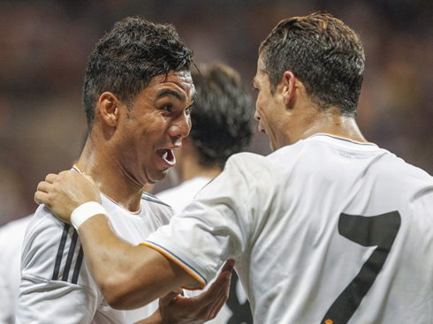 Cristiano Ronaldo and Casemiro, best friends in Real Madrid 2013