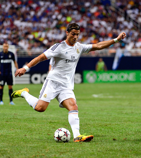 Cristiano Ronaldo in action for Real Madrid, in 2013-2014