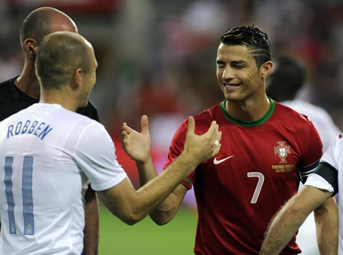 Cristiano Ronaldo and Arjen Robben, in Portugal vs Netherlands