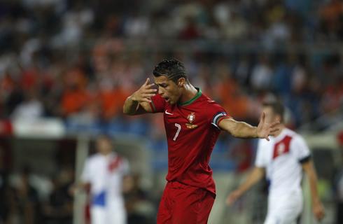 Cristiano Ronaldo claiming innocence in soccer