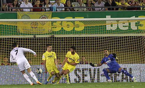 Cristiano Ronaldo goal in Villarreal vs Real Madrid, in 2013-2014