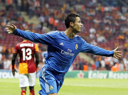 Cristiano Ronaldo hat-trick in the Champions League, in Galatasaray 1-6 Real Madrid
