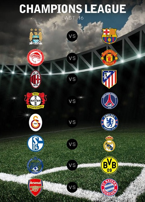 UEFA Champions League Last 16 Round The Complete Preview
