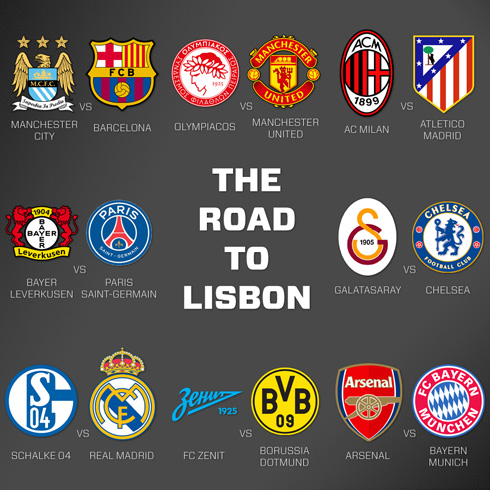 Uefa champions league last 16 round the complete preview uefa champions league 2013 2014 the road to lisbon voltagebd Images