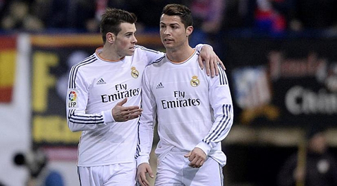 Photo of Gareth Bale & his friend football player  Cristiano Ronaldo - Real Madrid CF team