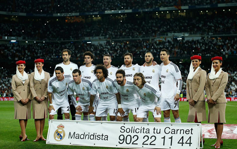 Time Real Madrid Real Madrid Starting Line-up