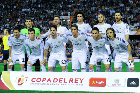 real madrid starting line up in the copa del rey clasico against barcelona