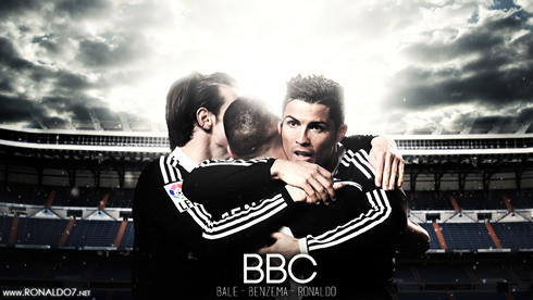 Real Madrid BBC Wallpaper Bale Benzema And Cristiano Ronaldo 2015 Roster