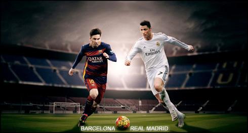 Barcelona Vs Real Madrid Wallpaper And Messi Cristiano Ronaldo In 2016