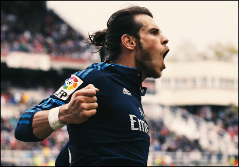 Gareth Bale after scoring the winner in Rayo 2-3 Real Madrid, in 2016