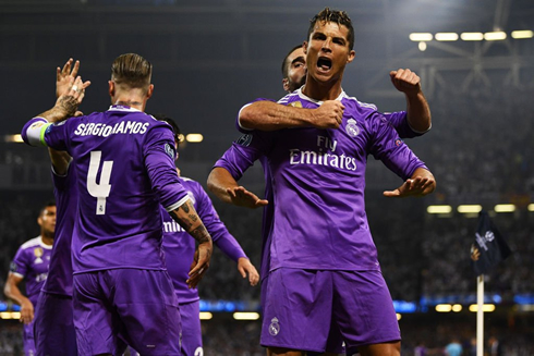 Juventus 1 4 Real Madrid European Champions Cristiano Ronaldo Scores