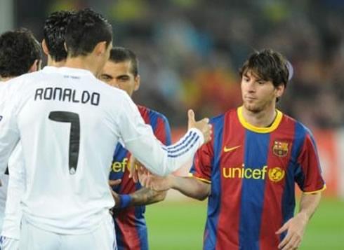Cristiano Ronaldo And Lionel Messi In Real Madrid Vs Barcelona 2011