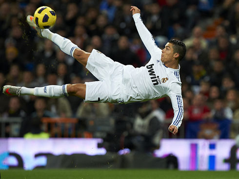 Cristiano ronaldo and lionel messi team up for a charity campaign - Messi bicycle kick assist ...