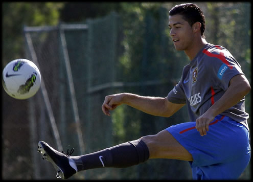 Cristiano Ronaldo testing top-secret Nike football boots