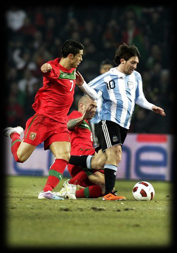 messi and ronaldo 2011. Ronaldo scores for the first