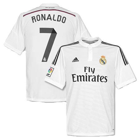 Cristiano Ronaldo Real Madrid Home Jersey Shirt Uniform kit 2014/15
